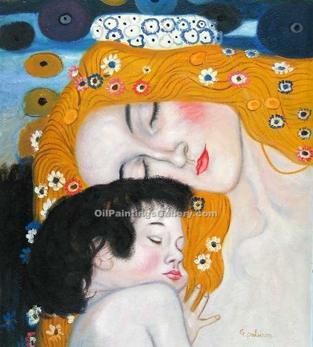 The Three Ages of Woman (detail) 49 by GustavKlimt | Original Artworks - Oil Paintings Gallery