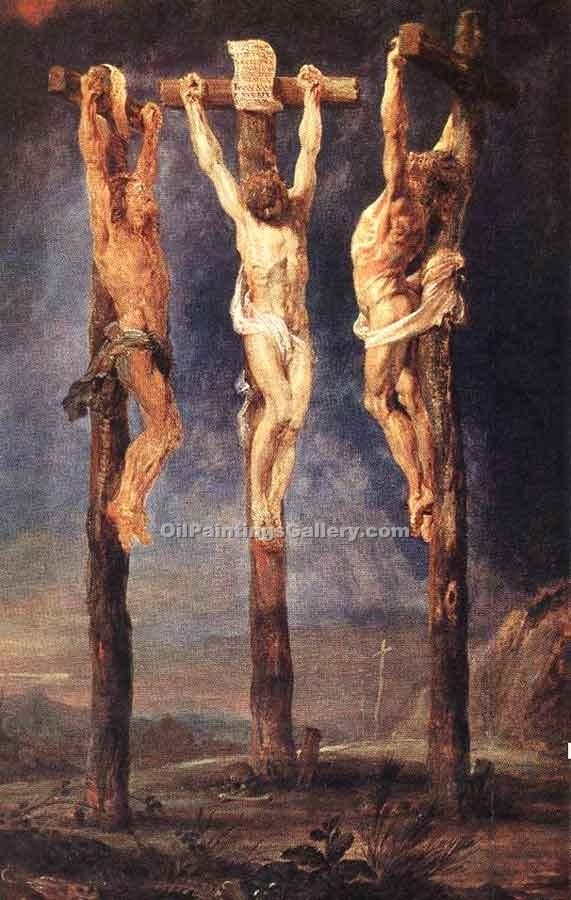 """The Three Crosses"" by  Peter Paul Rubens"