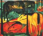 The Three Horses by  Franz Marc (Painting ID: AB-0158-KA)