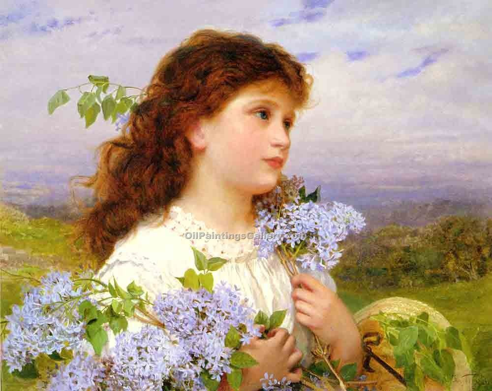"""The Time of The Lilacs"" by  Sophie Gengembre Anderson"