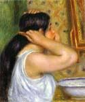 The Toilette Woman Combing Her Hair by  Pierre Auguste Renoir (Painting ID: CL-4453-KA)