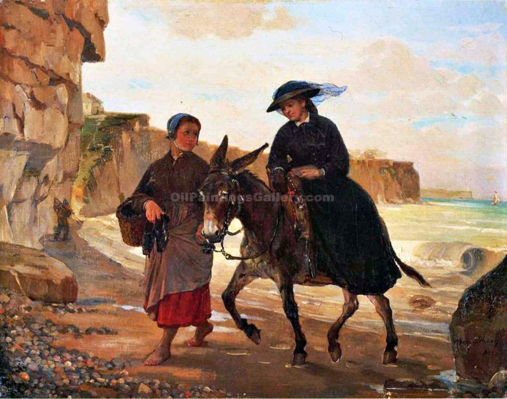 """The Tourist and the Fisherwoman"" by  Henry Bacon"