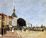 The Town of Dordrecht by  Eugene Louis Boudin (Painting ID: CI-0288-KA)