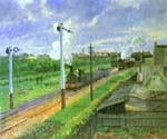 The Train, Bedford Park by  Camille Pissarro (Painting ID: LA-0904-KA)