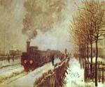 The Train in the Snow by  Claude Monet (Painting ID: MO-1176-KA)