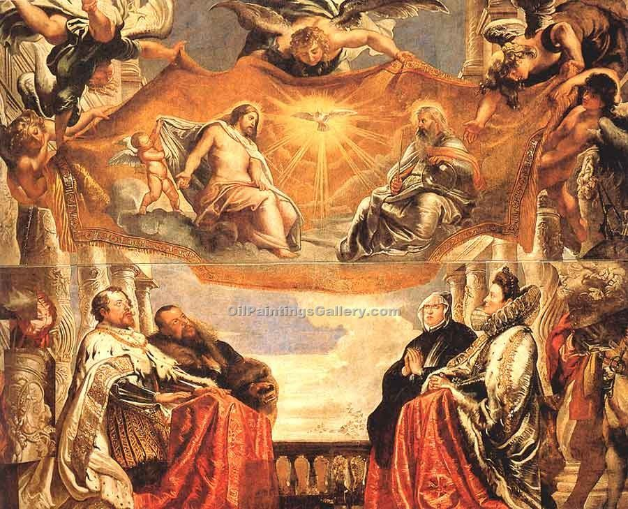 """The Trinity Adored by the Duke of Mantua"" by  Peter Paul Rubens"