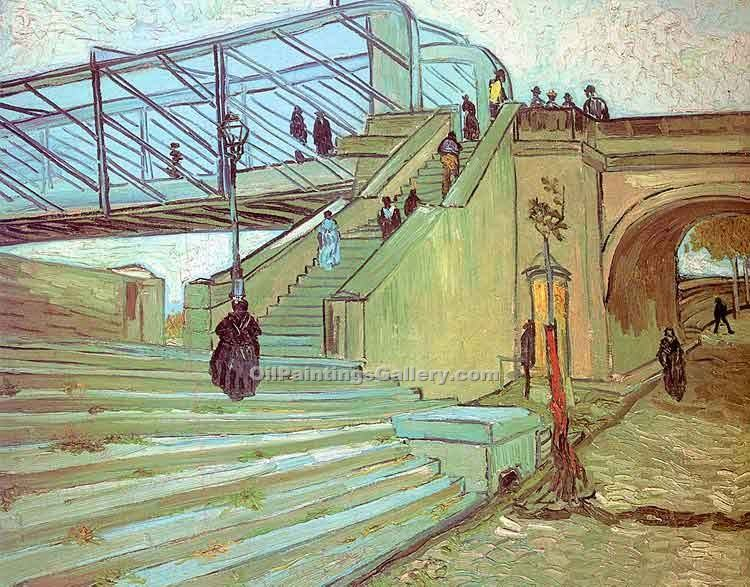 """The Trinquetaille Bridge"" by  Vincent Van Gogh"