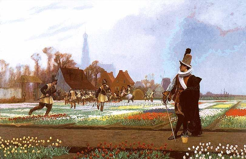 """The Tulip Folly"" by  Jean Leon Gerome"