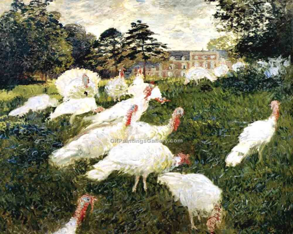 """The Turkeys"" by  Claude Monet"