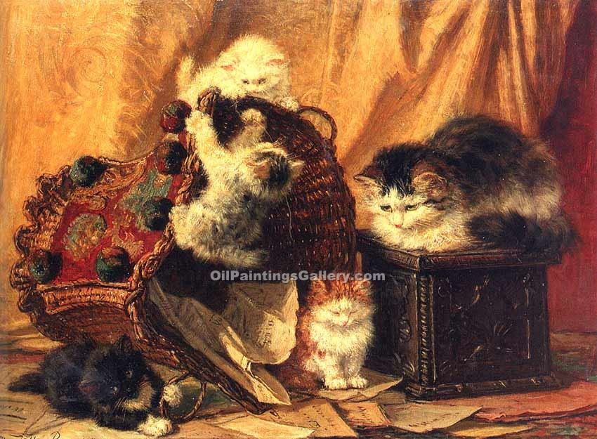 """The Turned Over Waste Paper Basket"" by  Henriette Ronner Knip"