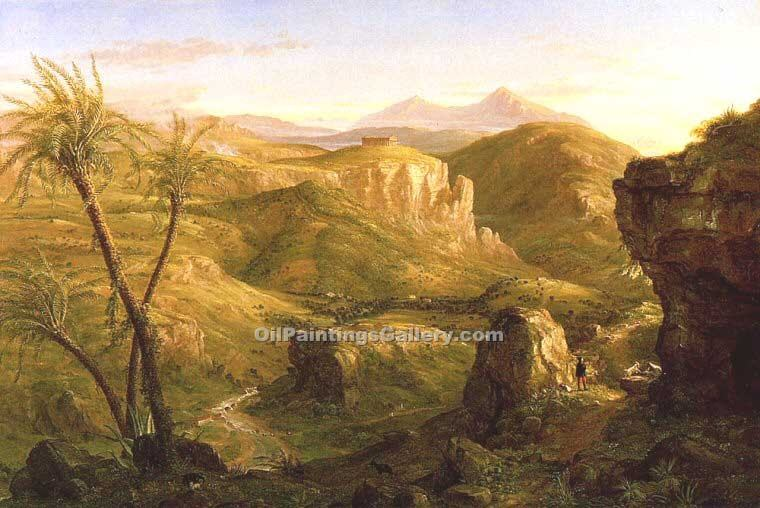 """The Vale and Temple of Segesta, Sicily"" by  Thomas Cole"