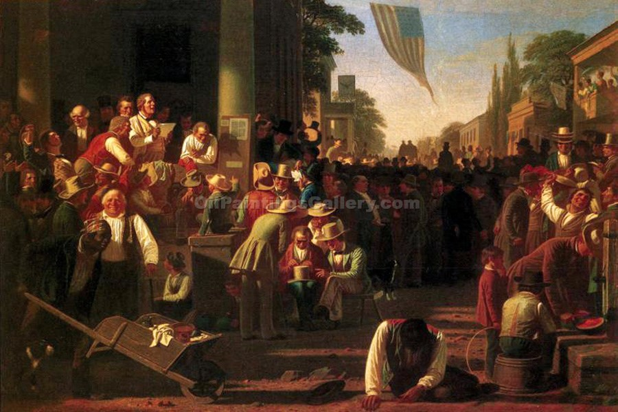 The Verdict of the People by George CalebBingham | Paintings For Sale Online - Oil Paintings Gallery