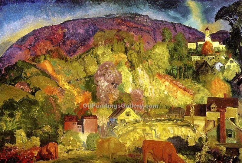 """The Village on the Hill"" by  George Bellows"