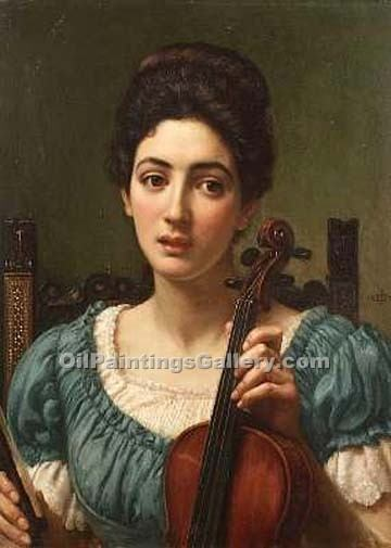 """The Violinist"" by  Sir Edward John Poynter"