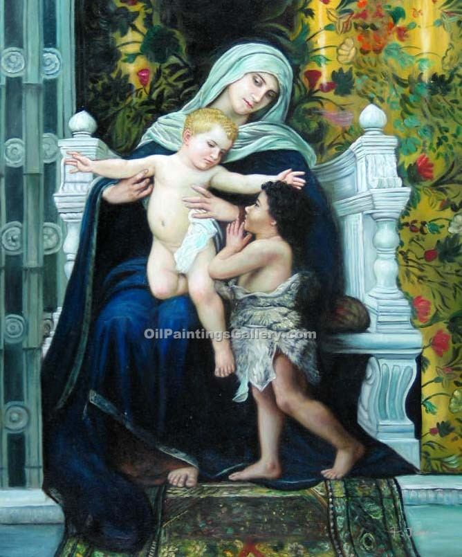 """The Virgin Baby Jesus and Saint 41"" by  Adolphe Bouguereau"