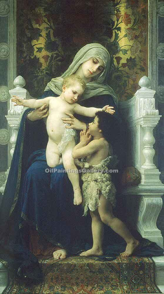"""The Virgin Baby Jesus and Saint 42"" by  Adolphe Bouguereau"