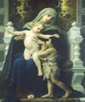 The Virgin Baby Jesus and Saint 42 by  Adolphe Bouguereau (Painting ID: DA-7142-KA)