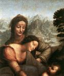 The Virgin and Child with St Anne (detail) 22 by  Leonardo Da Vinci (Painting ID: DV-2122-KA)