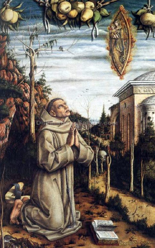 """The Vision of the Blessed Gabriele Ferretti"" by  Carlo Crivelli"