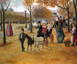 The Walk to Champs Elysees by  Joaquin Y Allustante Pallarese (Painting ID: LA-0714-KA)
