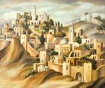 The Walls of Jerusalem by  Dan Livni (Painting ID: AD-0308-KA)