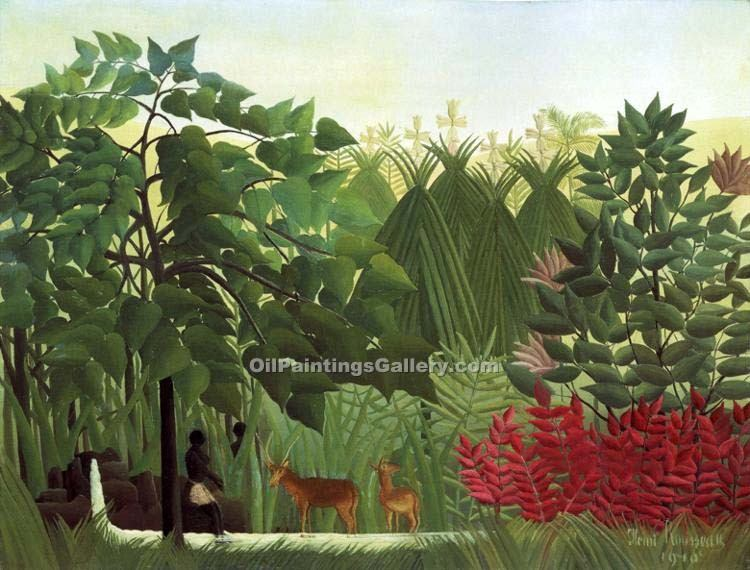 """The Waterfall"" by  Henri Rousseau"