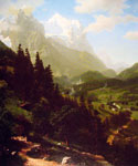The Wetterhorn by  Albert Bierstadt (Painting ID: LA-3419-KA)