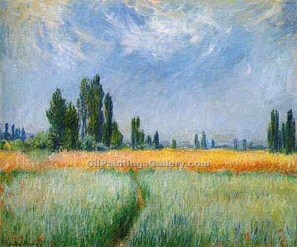 """The Wheatfield"" by  Claude Monet"