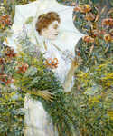 The White Parasol by  Robert Reid (Painting ID: ED-0064-KA)