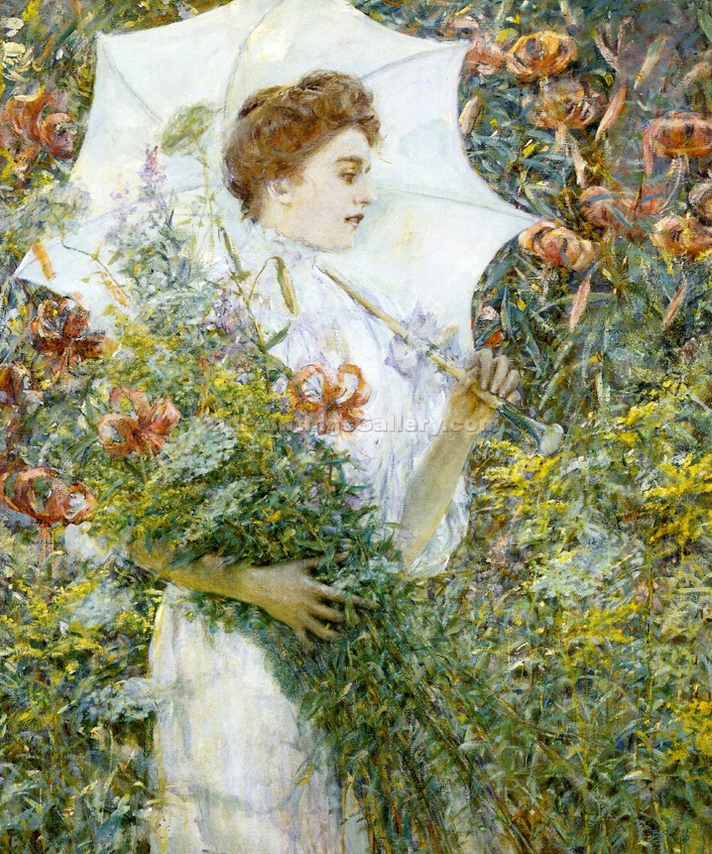"""The White Parasol"" by  Robert Reid"