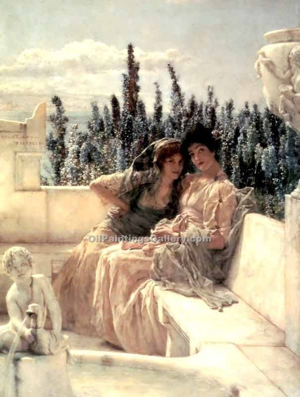 """The Wispering Noon"" by  Sir Lawrence Alma Tadema"