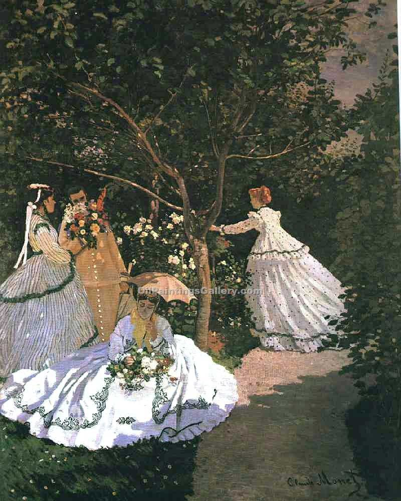 """The Women in the Garden"" by  Claude Monet"