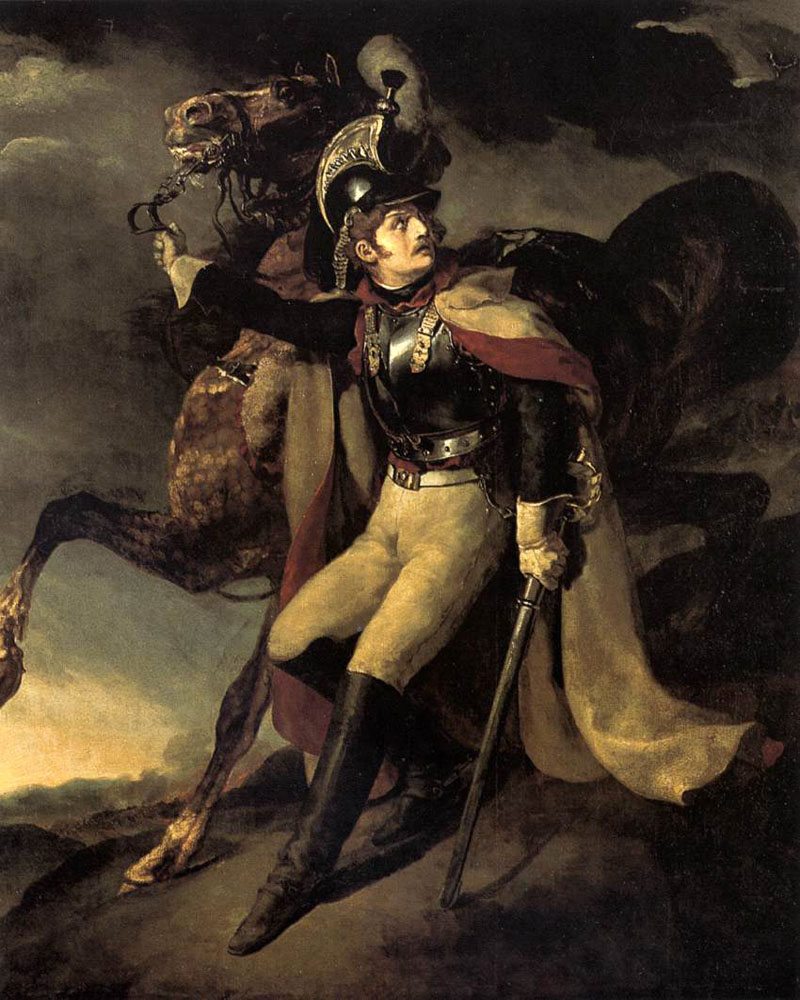 The Wounded Officer of the Imperial Guard by Theodore Gericault | Family Portraits