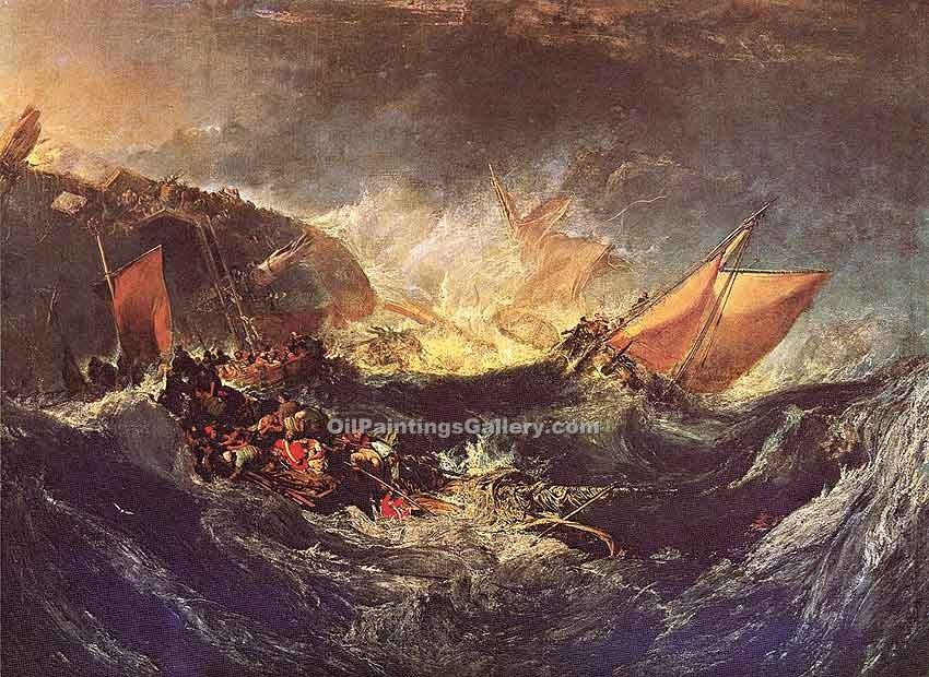The Wreck of a Transport Ship by William Turner | Famous Artists Reproductions - Oil Paintings Gallery