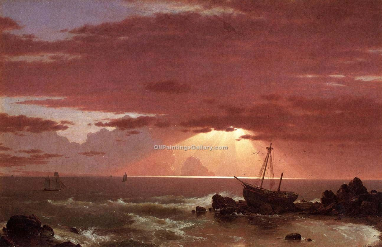 The Wreck by Frederic Edwin Church | Artwork For Sale - Oil Paintings Gallery