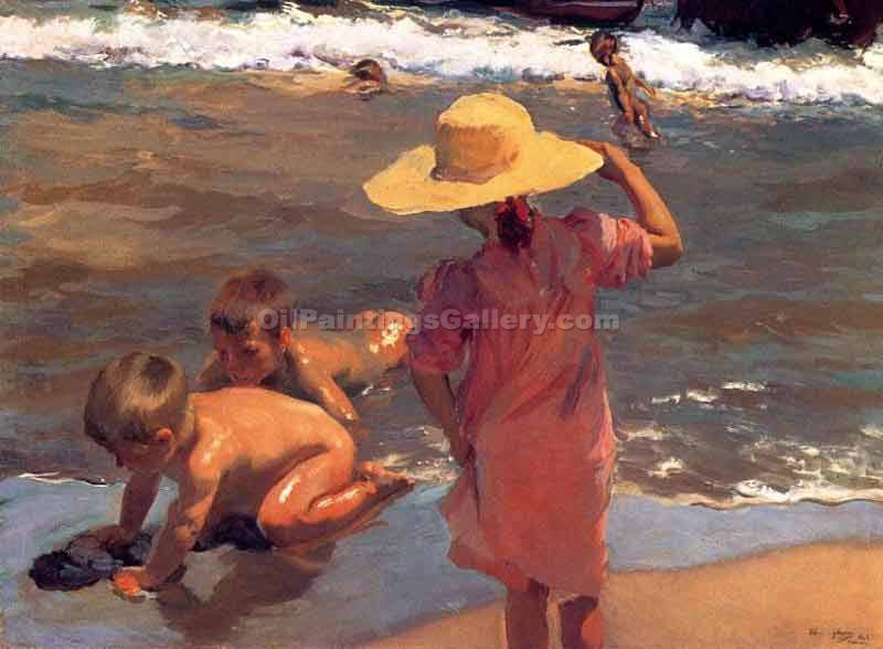 """The Young Amphibians"" by  Bastida Joaquin Sorolla"