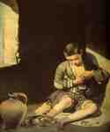 The Young Beggar by  Bartolome Esteban Murillo (Painting ID: CL-0117-KA)