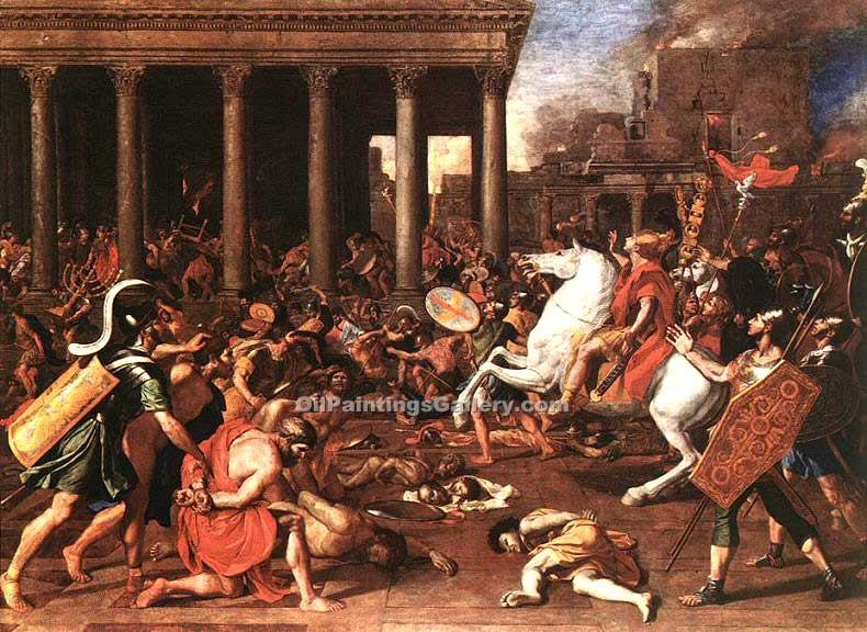 """The destruction of the Temple at Jerusalem"" by  Nicolas Poussin"