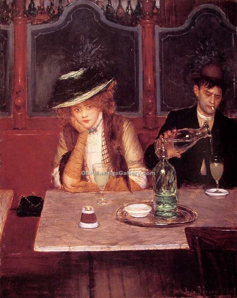 """The drinkers Paris"" by  Jean Beraud"