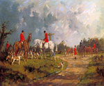 The meet at the Crossroads by  George Wright (Painting ID: AN-0235-KA)