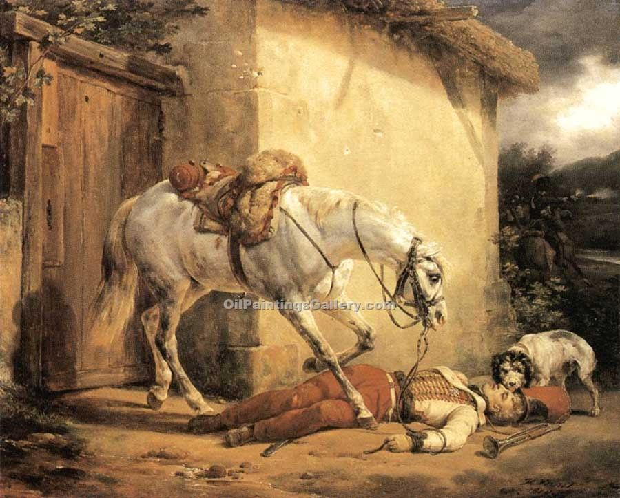 """The wonded Trupeter"" by  Horace Vernet"