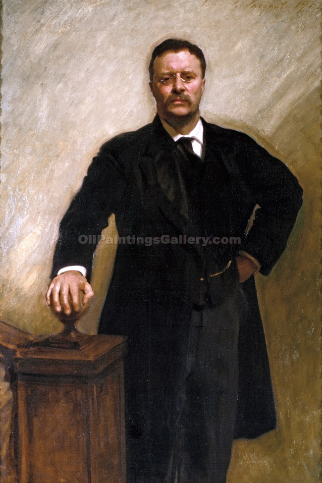 """Theodore Roosevelt, 26th President, Painted by John Singer Sargent"""