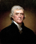 Thomas Jefferson, 3rd President, Painted by Rembrandt Peale  (Painting ID: CM-0003-KA)