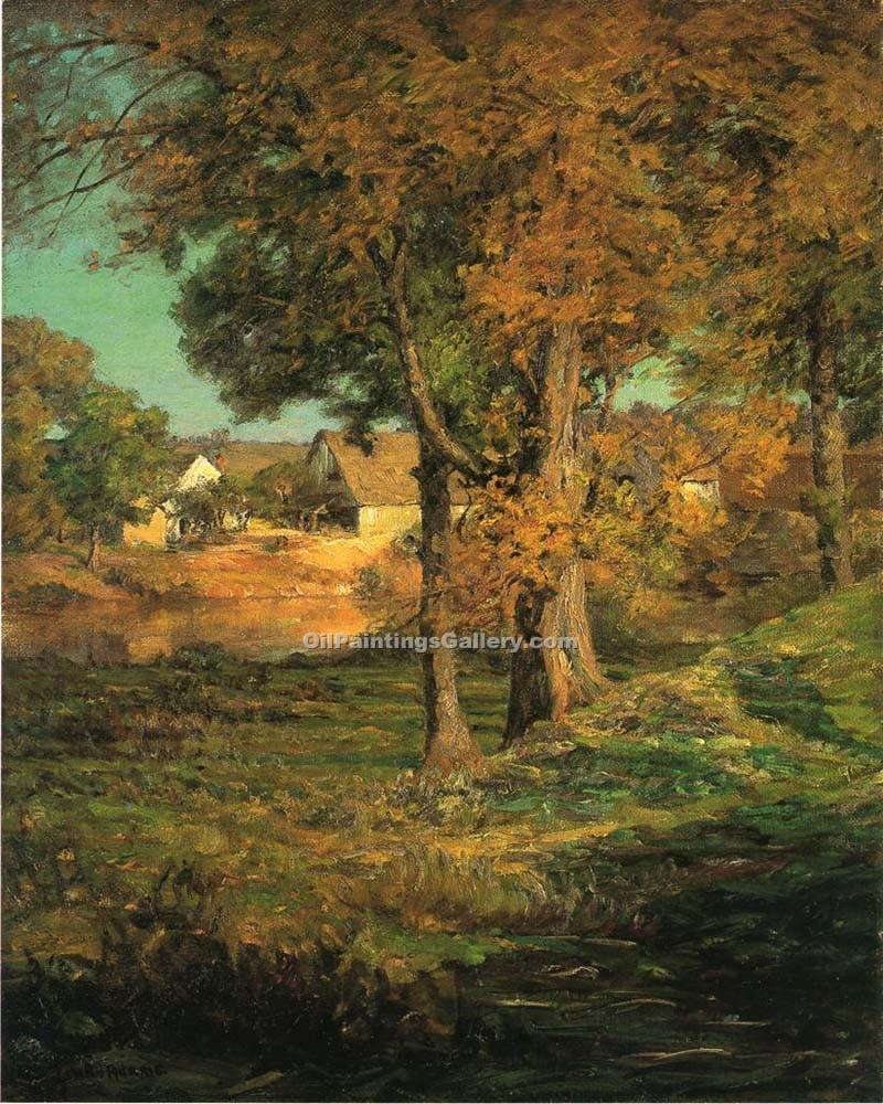 """Thornberry s Pasture Brooklyn Indiana"" by  John Ottis Adams"
