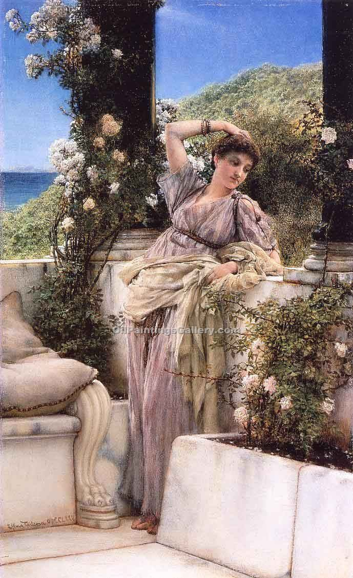 """Thou Rose of all the Roses"" by  Sir Lawrence Alma Tadema"