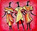 Three Dancers  (Painting ID: WY-143-A)