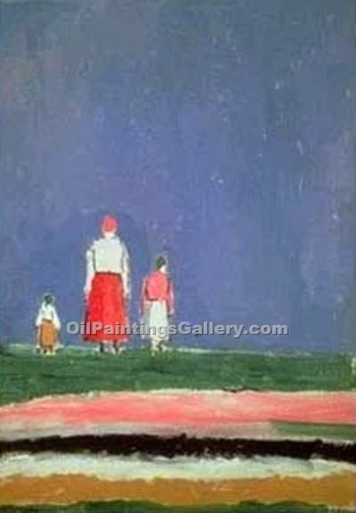 """Three Figures"" by  Kasimir Malevich"