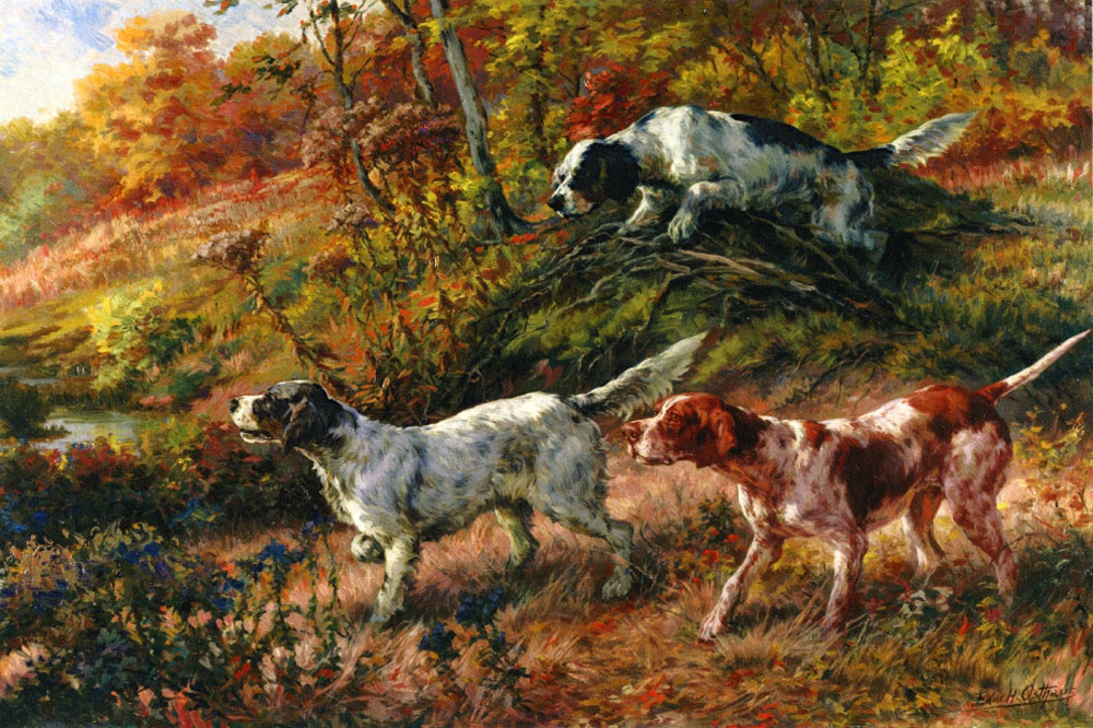 """Three Setters on Point"" by  Edmund H. Osthaus"