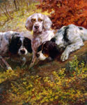 Three Setters on the Scent by  Edmund H. Osthaus (Painting ID: AN-0467-KA)