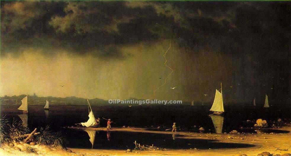 """Thunder Storm on Narragansett Bay"" by  Martin Johnson Heade"
